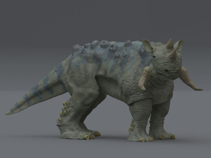 Rhinoceros inspired beast