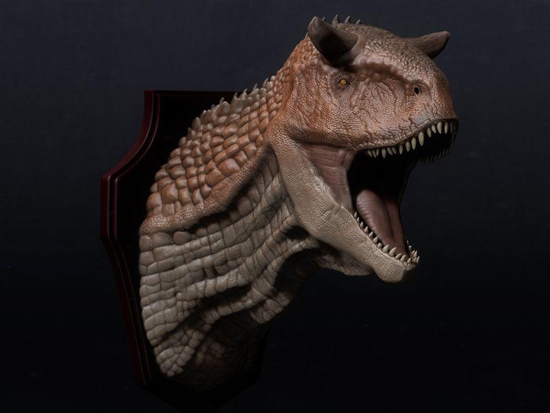 Carnotaurus Head Trophy