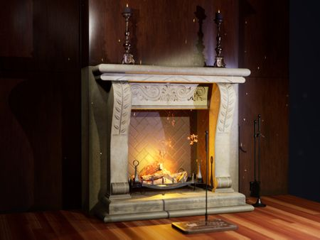 UE4 Real-Time Fireplace Scene