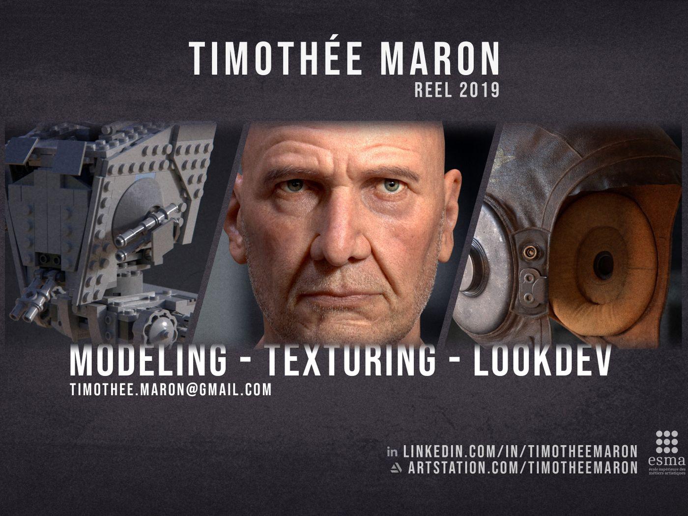 Modeling/Texturing/LookDev Reel