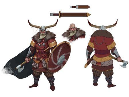 assassin's creed valhalla, Viking fanart concept