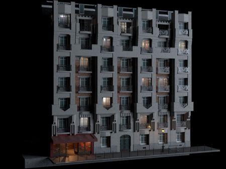 haussmannien Building