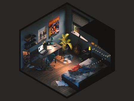 #WeeklyDrills 034 - Isometric Room