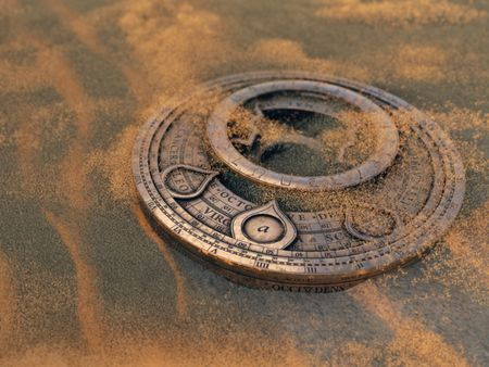 Cipher Disk in the Sand