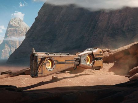 Environment Concept Art and Sci-Fi Vehicle Concept Art