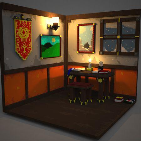 Cozy Voxel Room