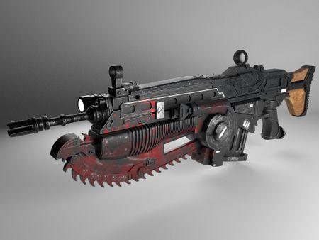 SEM 6 HARDSURFACE MODELING GUN LANCER