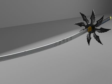 Hard surface Modeling Katana Black Moon Night Gemini