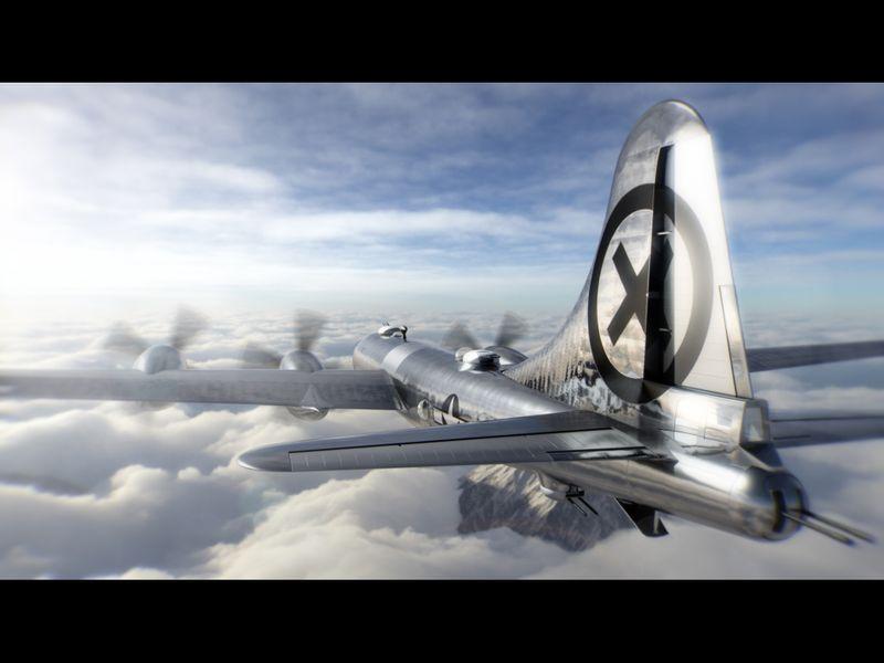 B29 WWII airplane