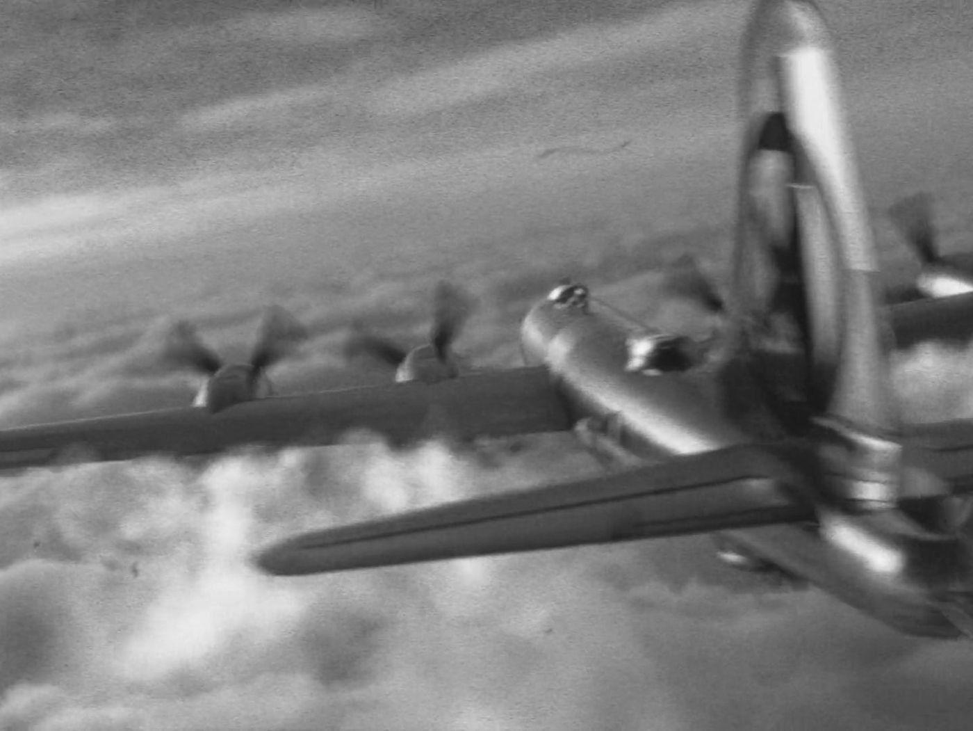 B29 WWII airplane, with fluids simulation.