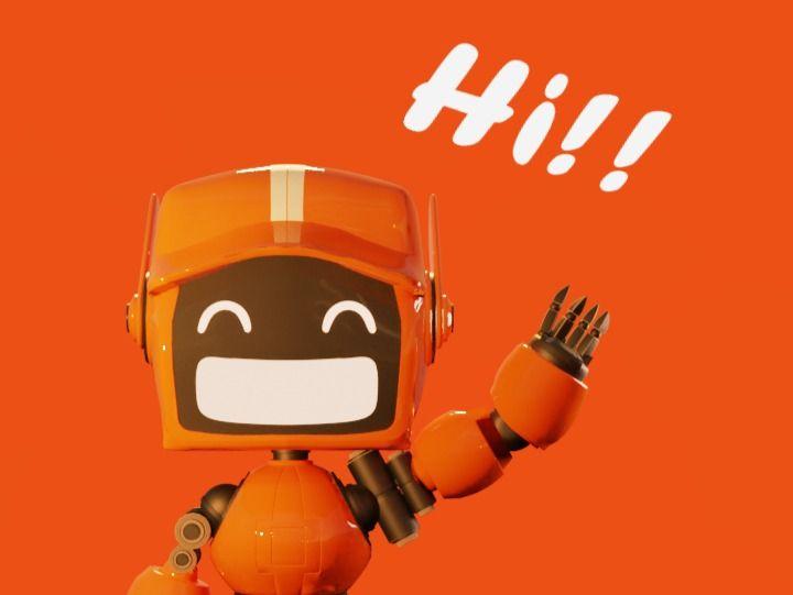 Hi!!- Orange Bot (Love Death Robots)