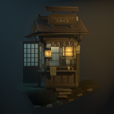 Old Japanese Store + Sci-Fi Asset
