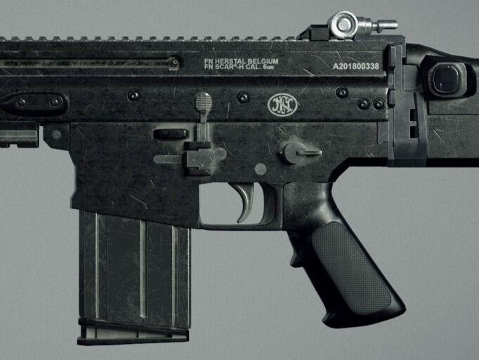 Scar-H rifle