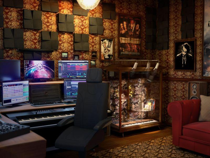 Hans Zimmer's home studio
