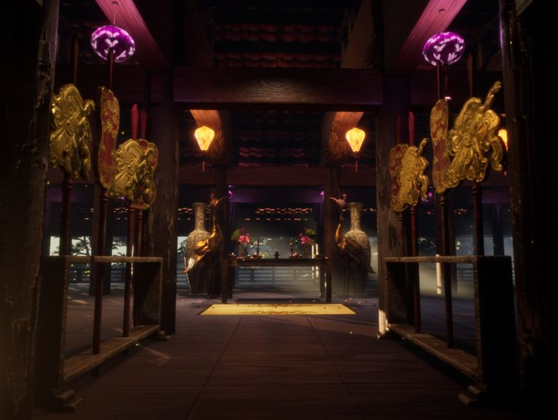 Vietnamese temple environment in UE4