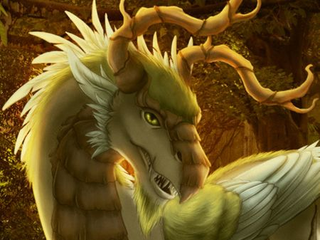 Ancient Feathered Jungle Dragon