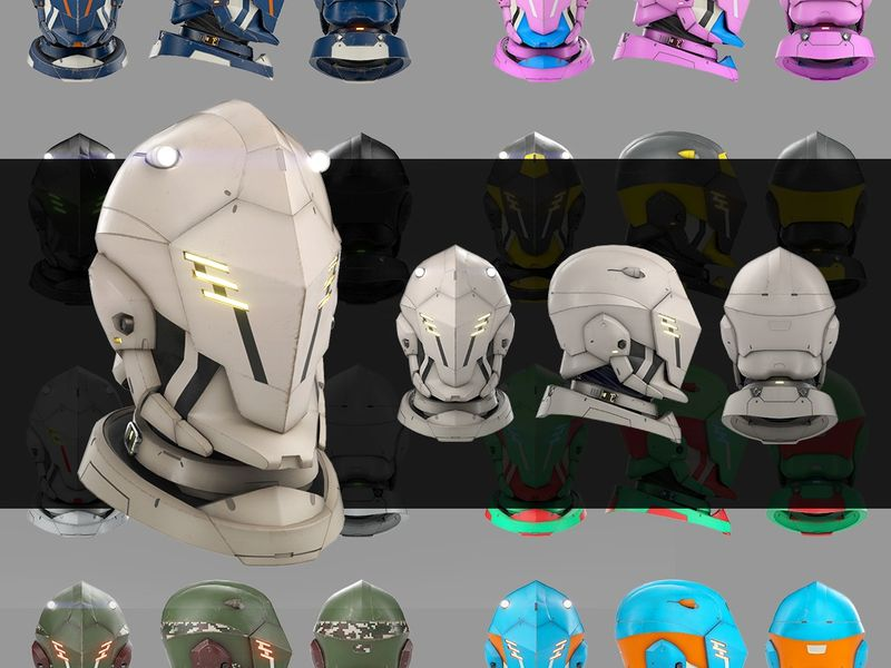 Space Marine Helmet - Bust