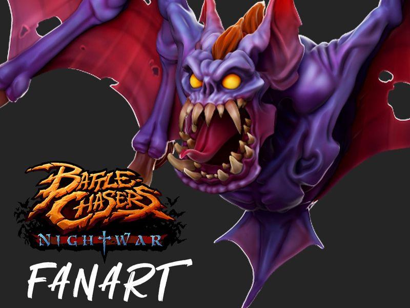 """Battle Chasers - Nightwar """"Bat"""" Fan Art"""
