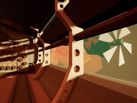 LowPoly SteamPunk VR scene