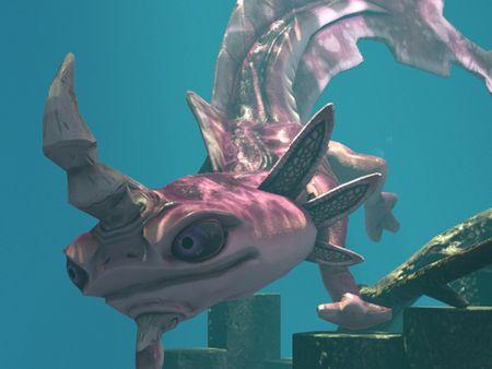 Axolotl: Low Poly Creature