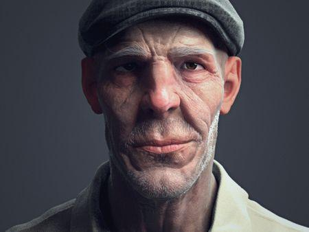 Madala(Old man Bust)