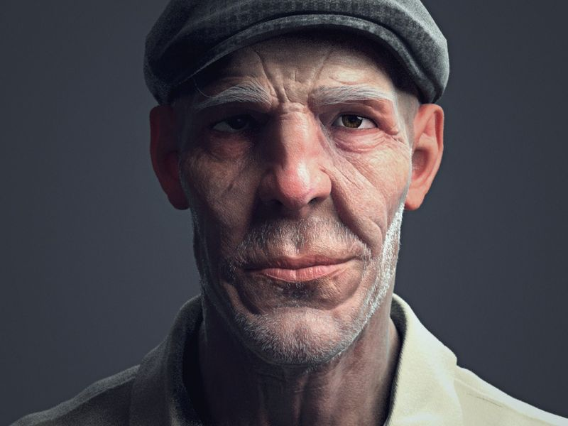 Madala(Old man Bust)