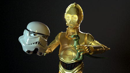 C3PO Having fun