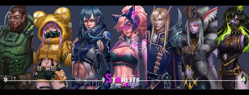 Starlit shooter   A Battle Royale Shooting Game Concept