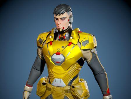Stylized sci fi character