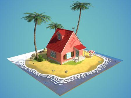Kame house diorama