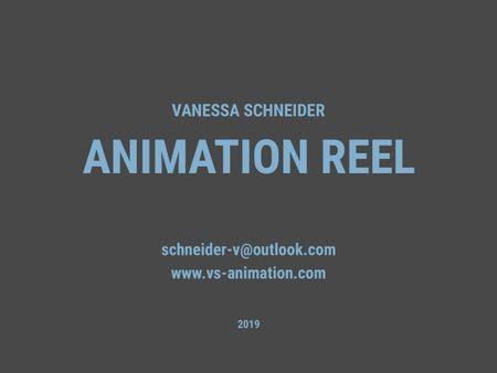Animation Reel