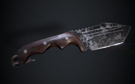 Knife Low Poly Bake