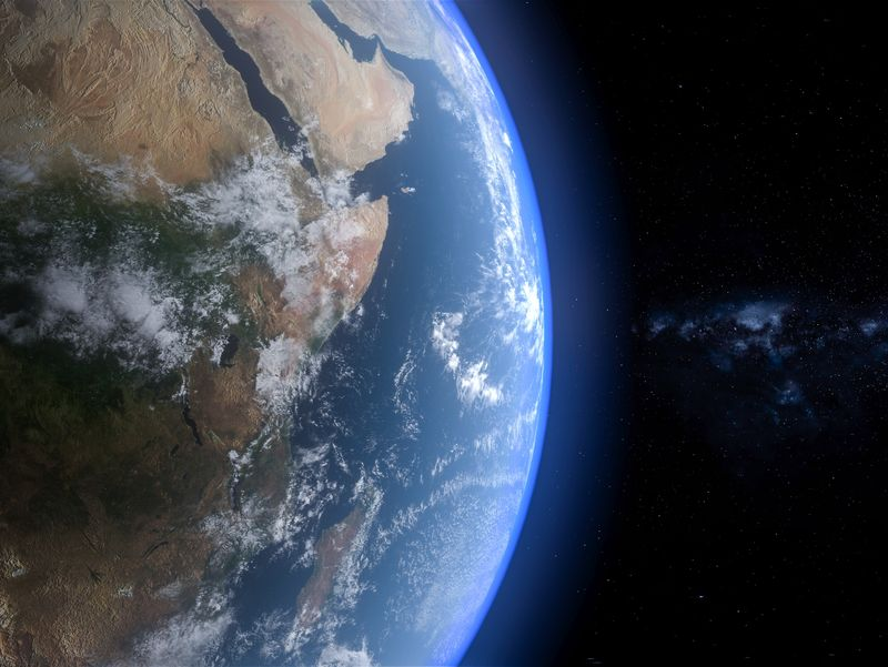 Earth Day & Night Scene