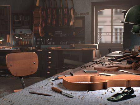 The violinmaker's workshop