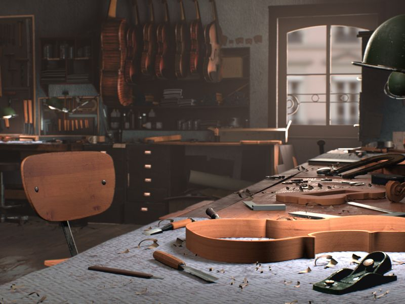 The violinmaker's workshop