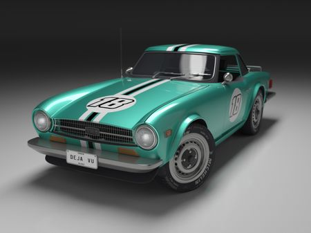 Triumph TR 6 Highpoly model