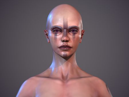 Purple - Female Base Mesh