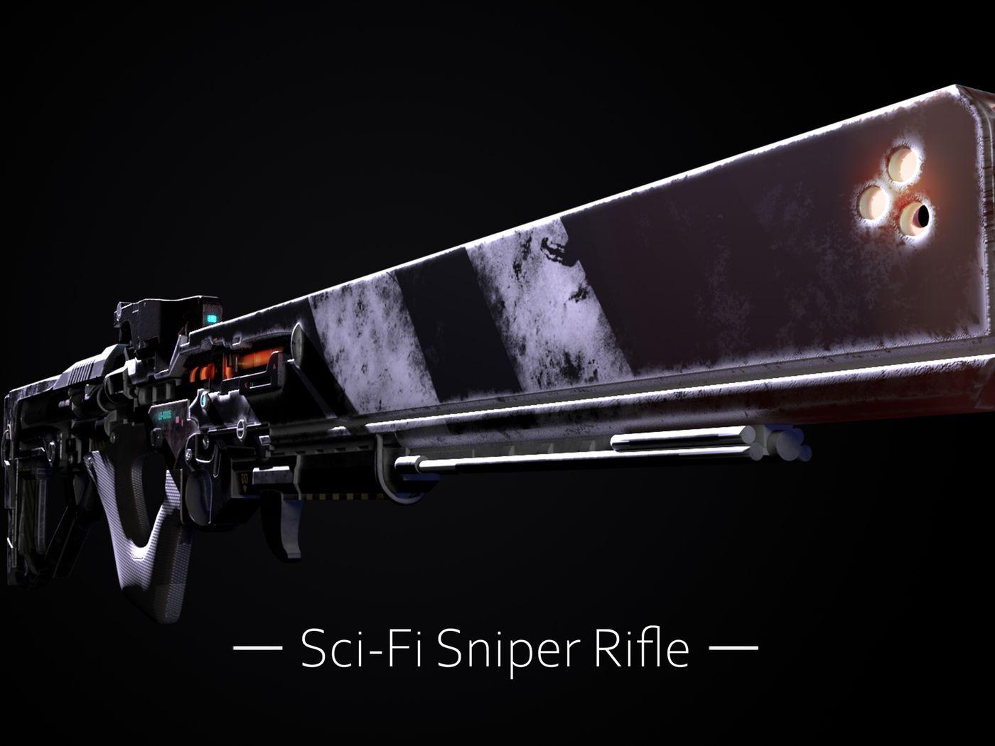 Sci-Fi Energy Sniper Rifle