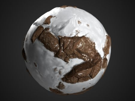 Snowy Rocks PBR Material made with Substance Designer + Tutorial + Free textures