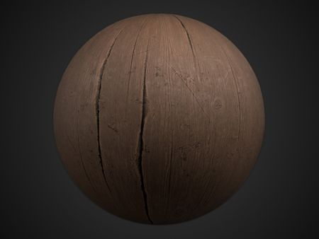 Worn glazed wood PBR Material + Tutorial + Free textures