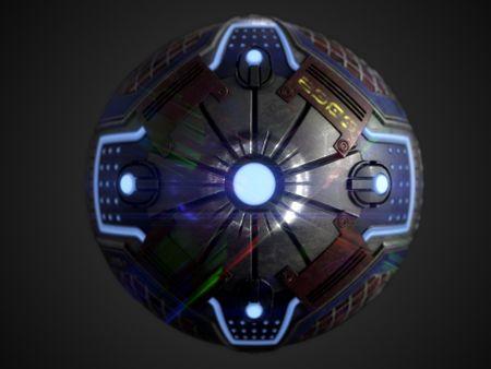 Sci-Fi metal Panel PBR Material made in Substance Designer + Free Tutorial + Free Textures