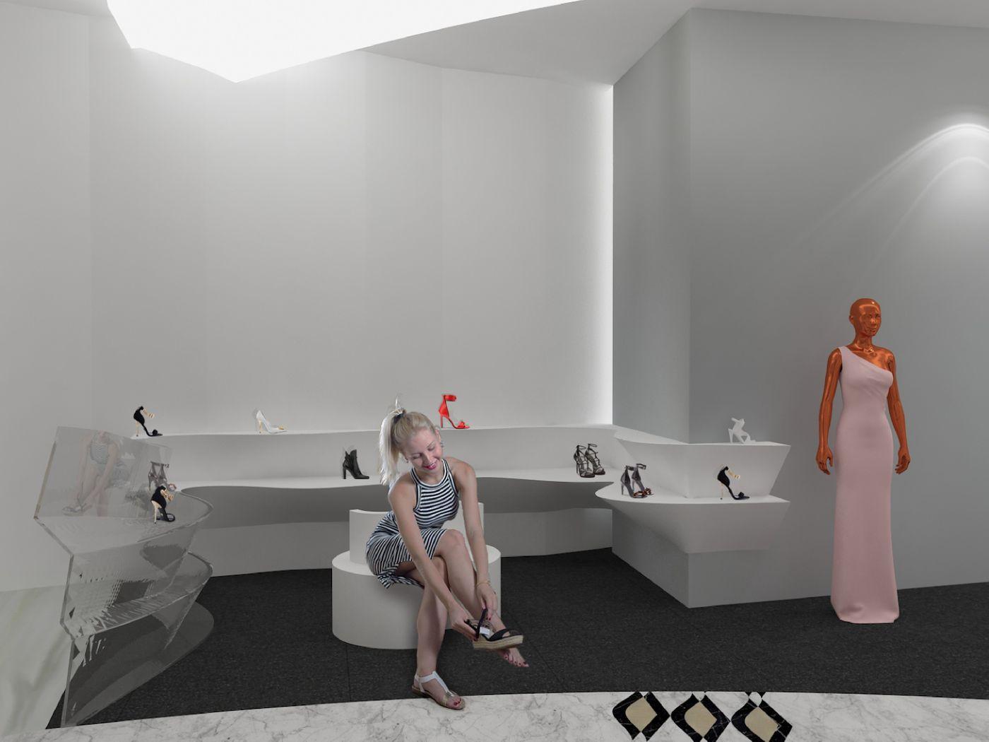 """Glamour Momentous"" concept retail design for Versace."