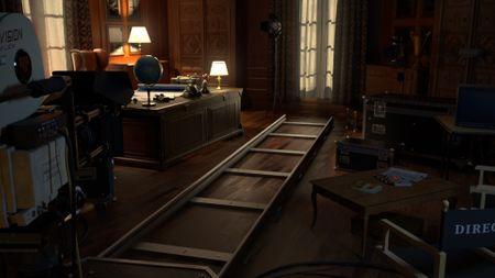 Martin Scorsese's Aviator movie set