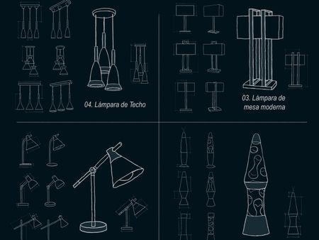 Sketch lamps (blueprint)