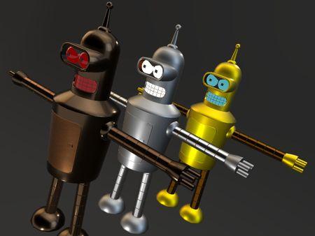 Robot Fanart 3D