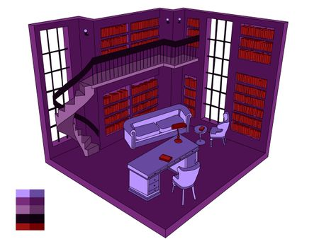 Purple saloon concept