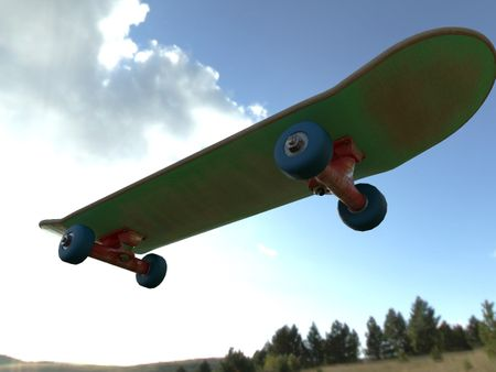 Skate 3d model and textured