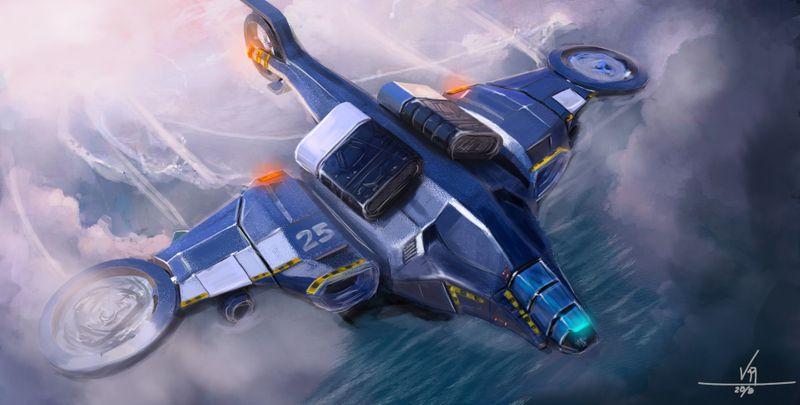Scifi Cargo Plane
