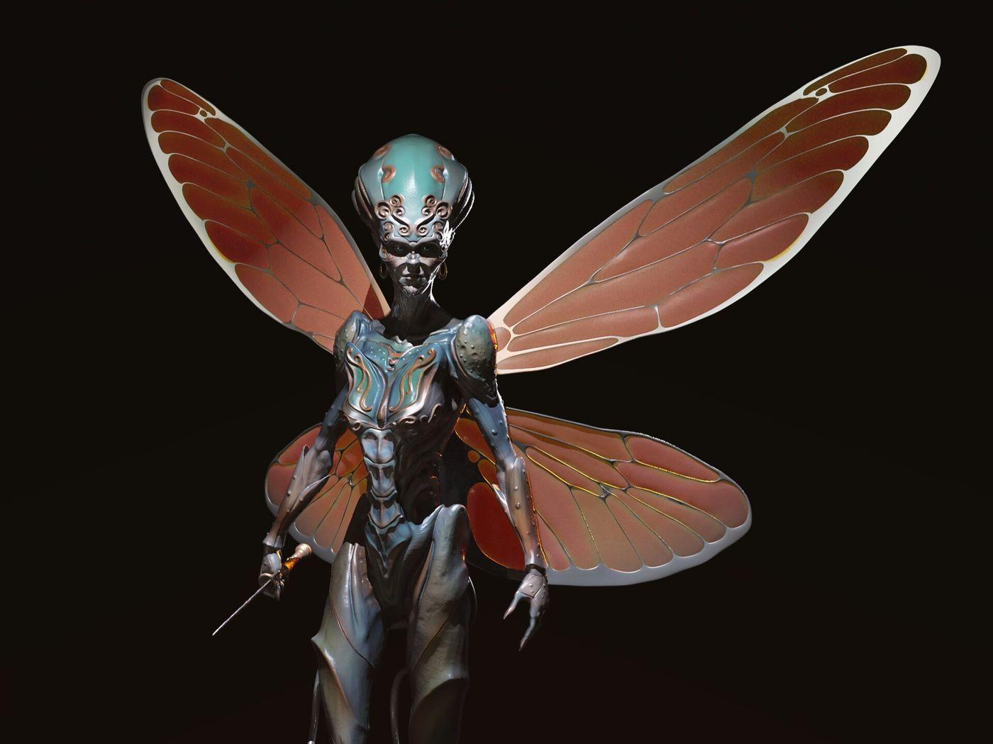 Fantasy Bug Warrior
