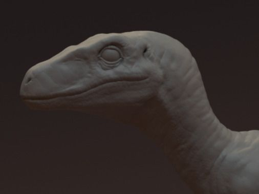 velociraptor sculpt